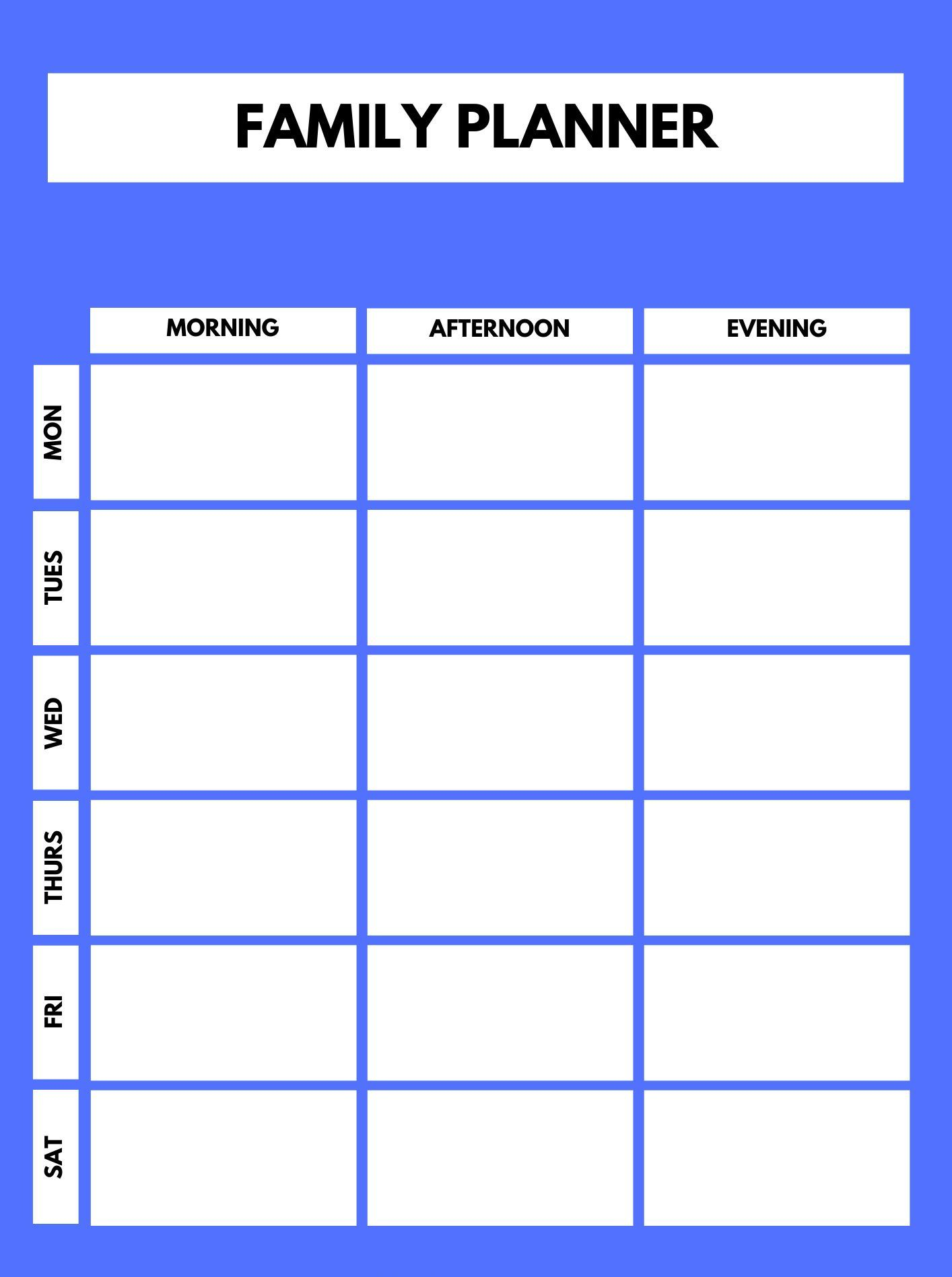 2020 Daily Family Planner Printable