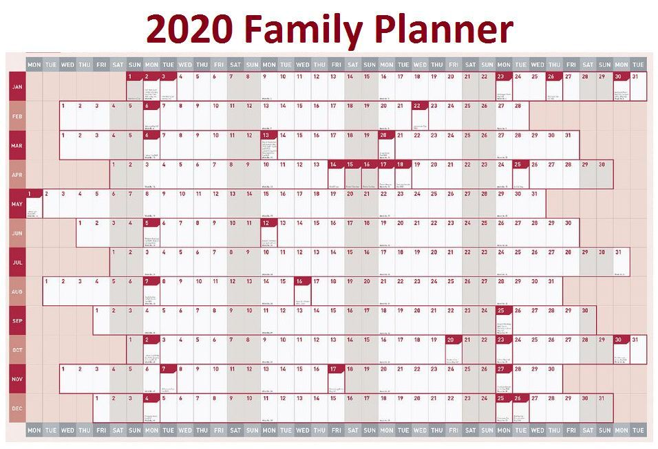 2020 Family Yearly Planner