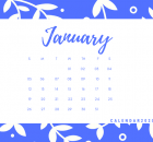 January 2020 Office Desk Calendar Printable