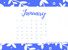 January 2020 Office Desk Calendar Printable