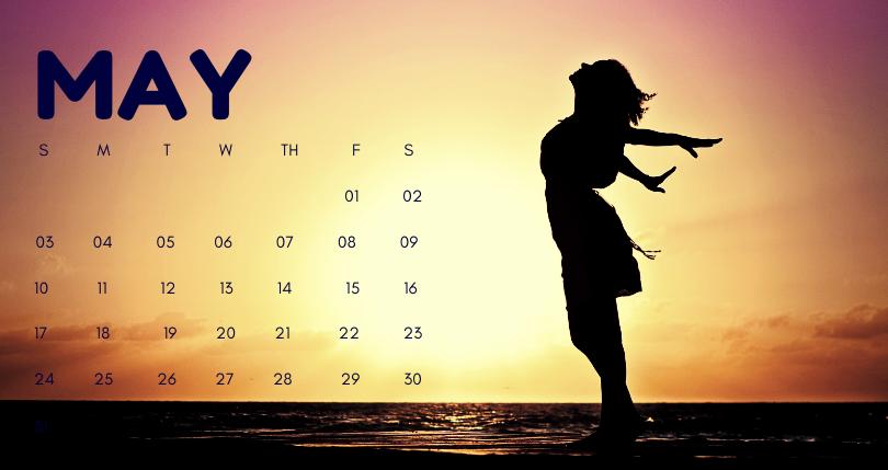 May 2020 Office Desk Calendar Printable