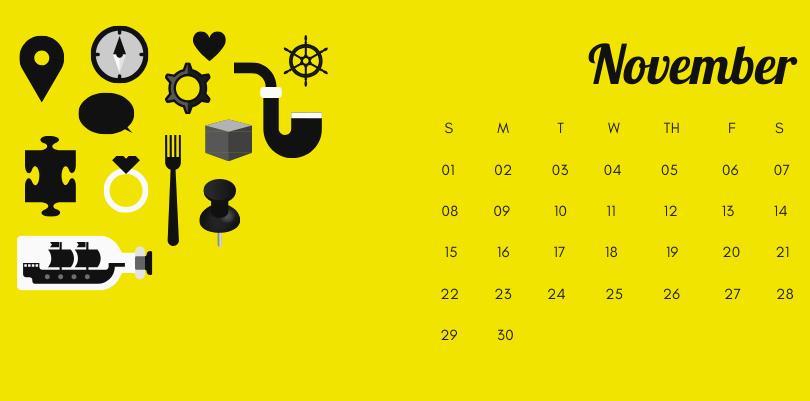 November 2020 Office Desk Calendar Printable