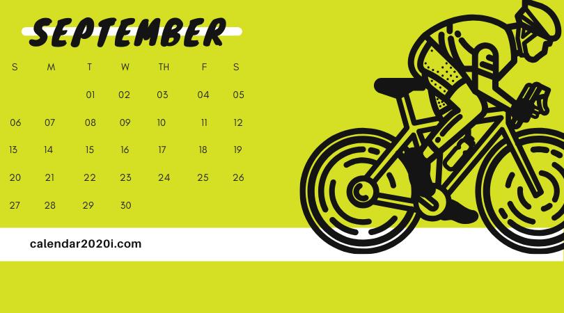 September 2020 Office Desk Calendar Printable