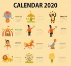 Cute 2020 Yearly Calendar