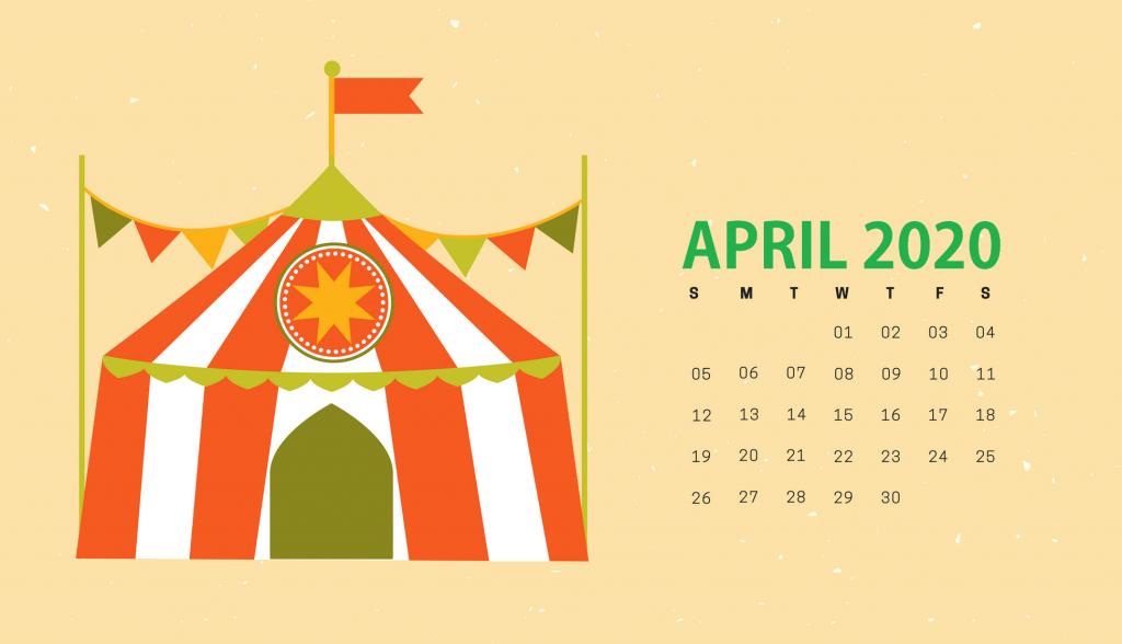 Cute April 2020 HD Calendar