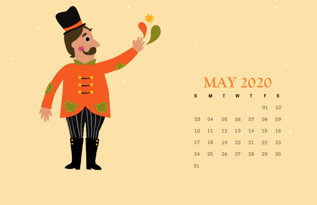 Cute May 2020 HD Calendar