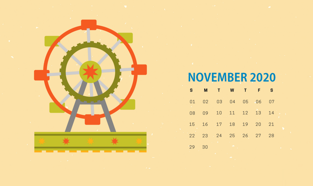 Cute November 2020 HD Calendar