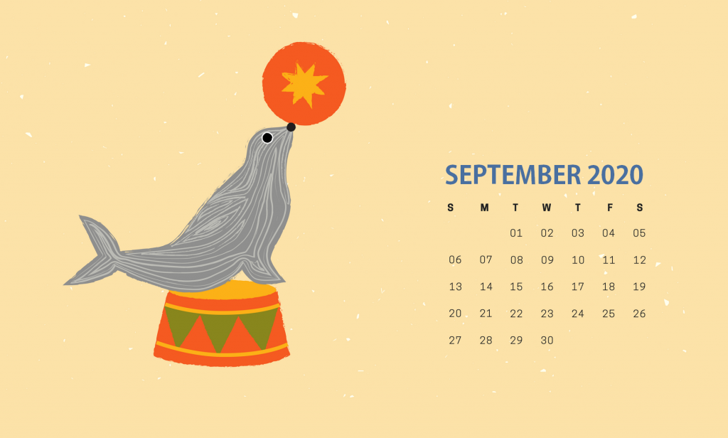 Cute September 2020 HD Calendar