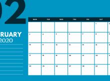 February 2020 Desk Template