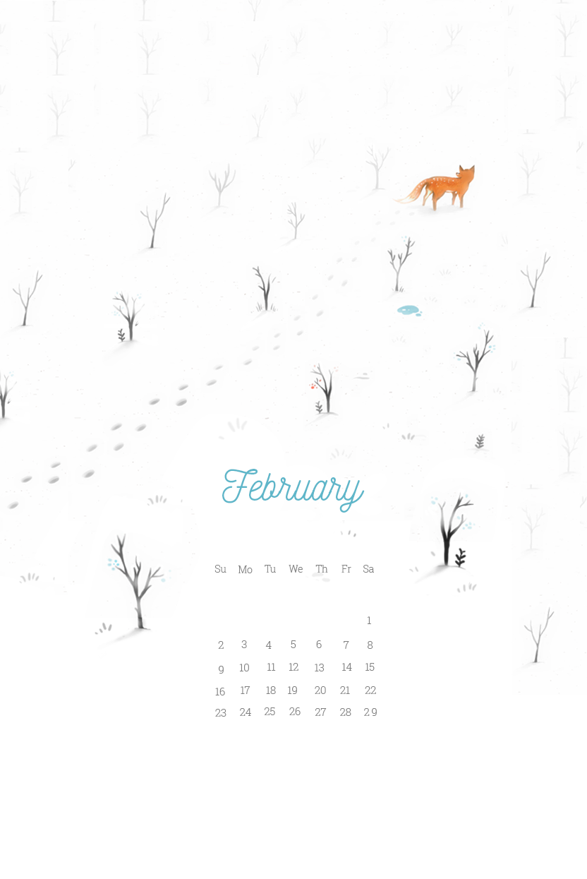 February 2020 Smartphone Wallpaper