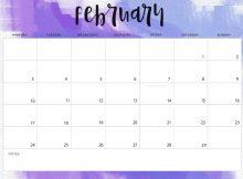 February 2020 Weekly Planner Calendar