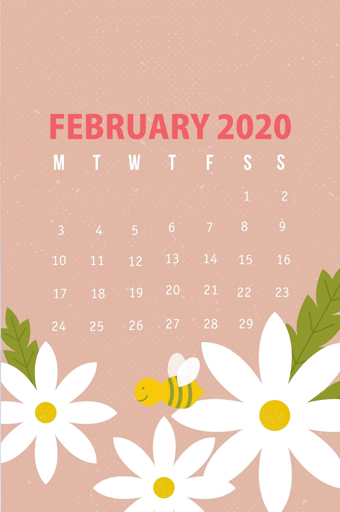 February 2020 iPhone Background