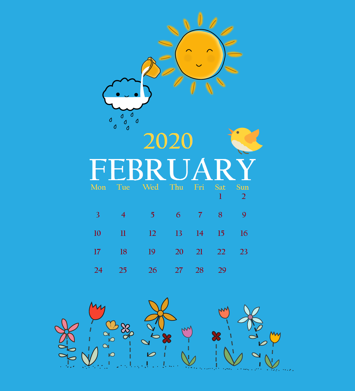 Latest February 2020 iPhone Screensaver
