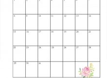 Latest March 2020 Floral Calendar
