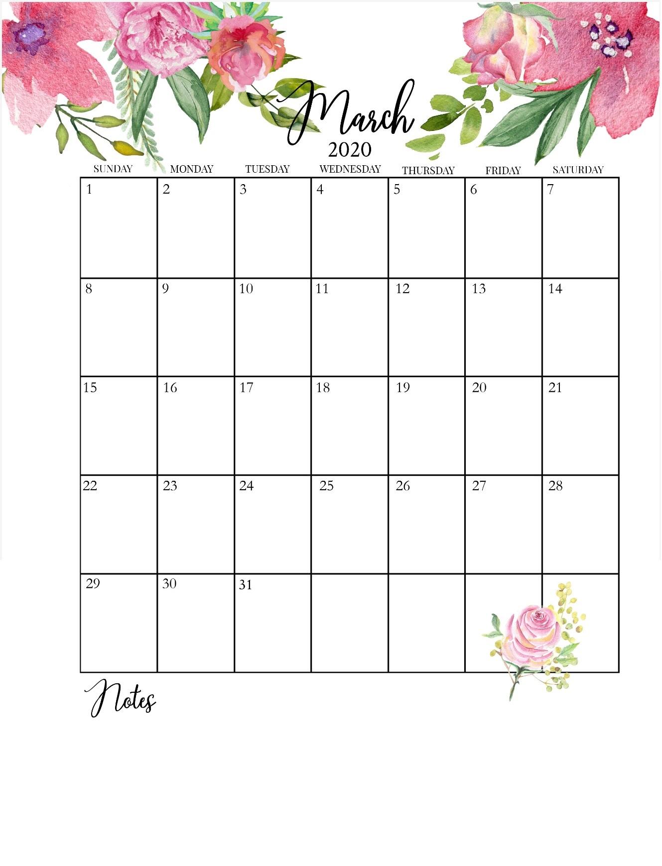 Latest March 2020 Floral Calendar