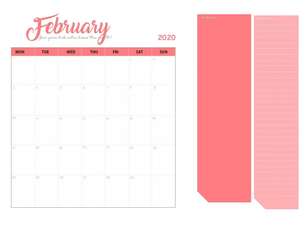 Unique February 2020 Calendar Design