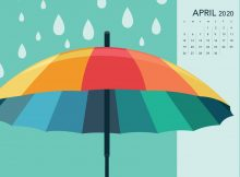 April 2020 Desktop Calendar