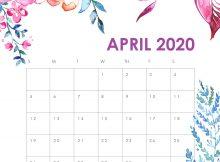 April 2020 HD Wall Calendar