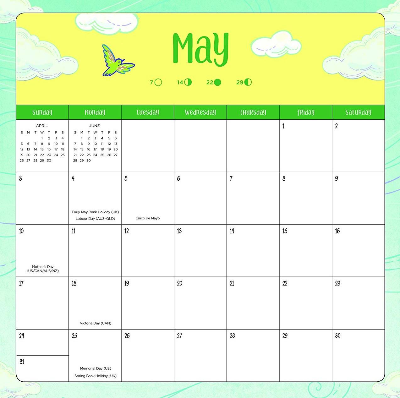 Best May 2020 Desk Calendar