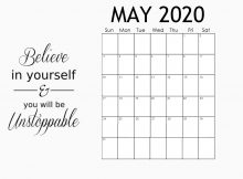 Best May 2020 Quotes Calendar