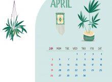 Cute April 2020 Desk Calendar