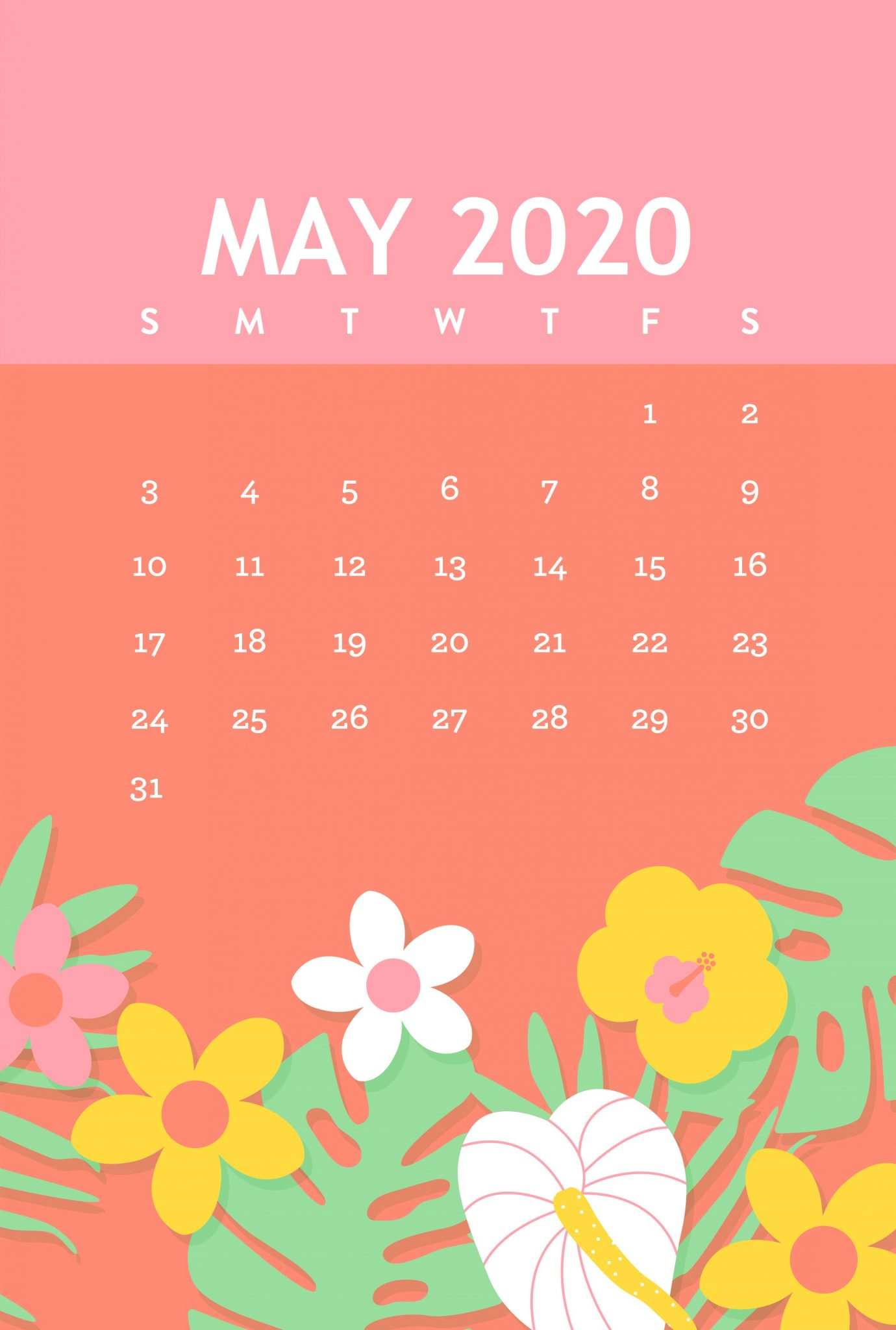 Cute May 2020 iPhone Background