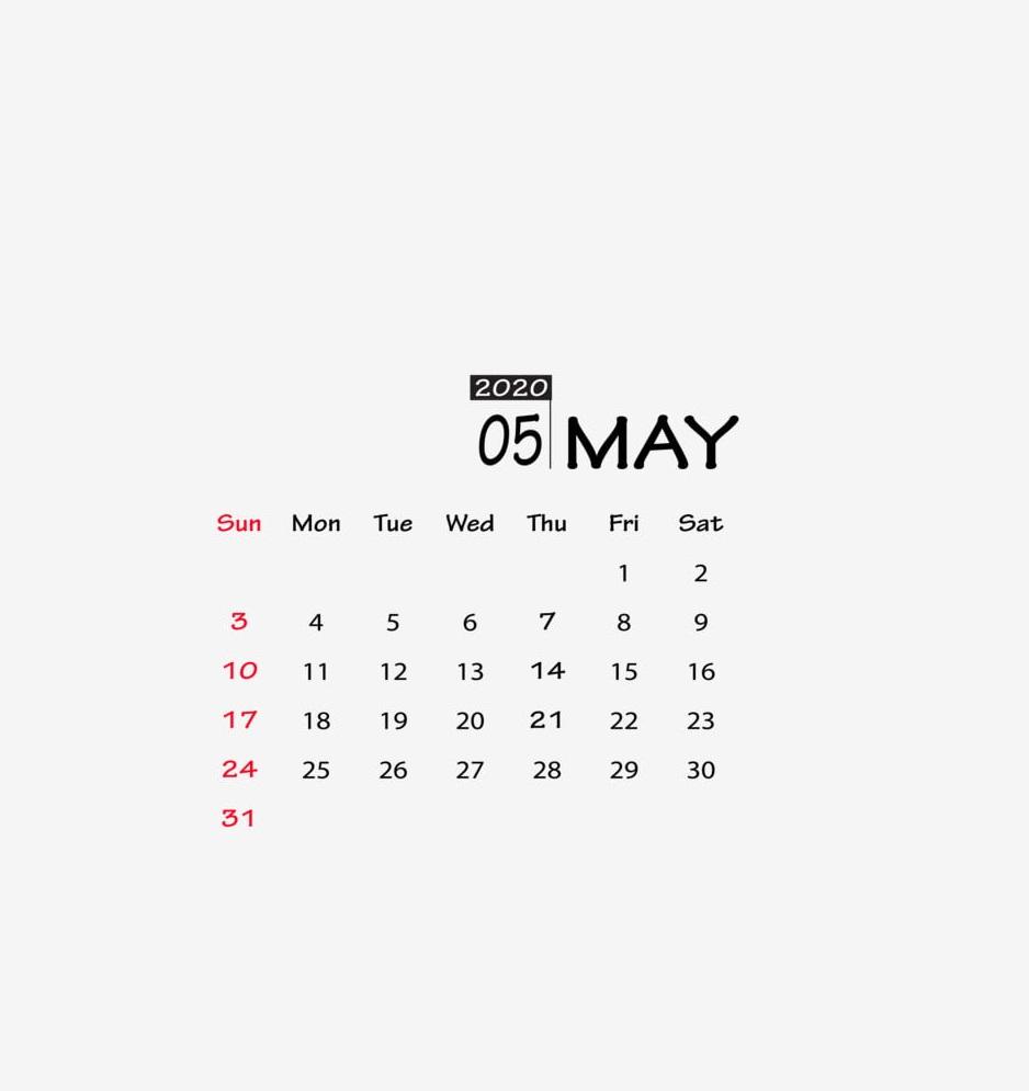 May 2020 Calendar Download