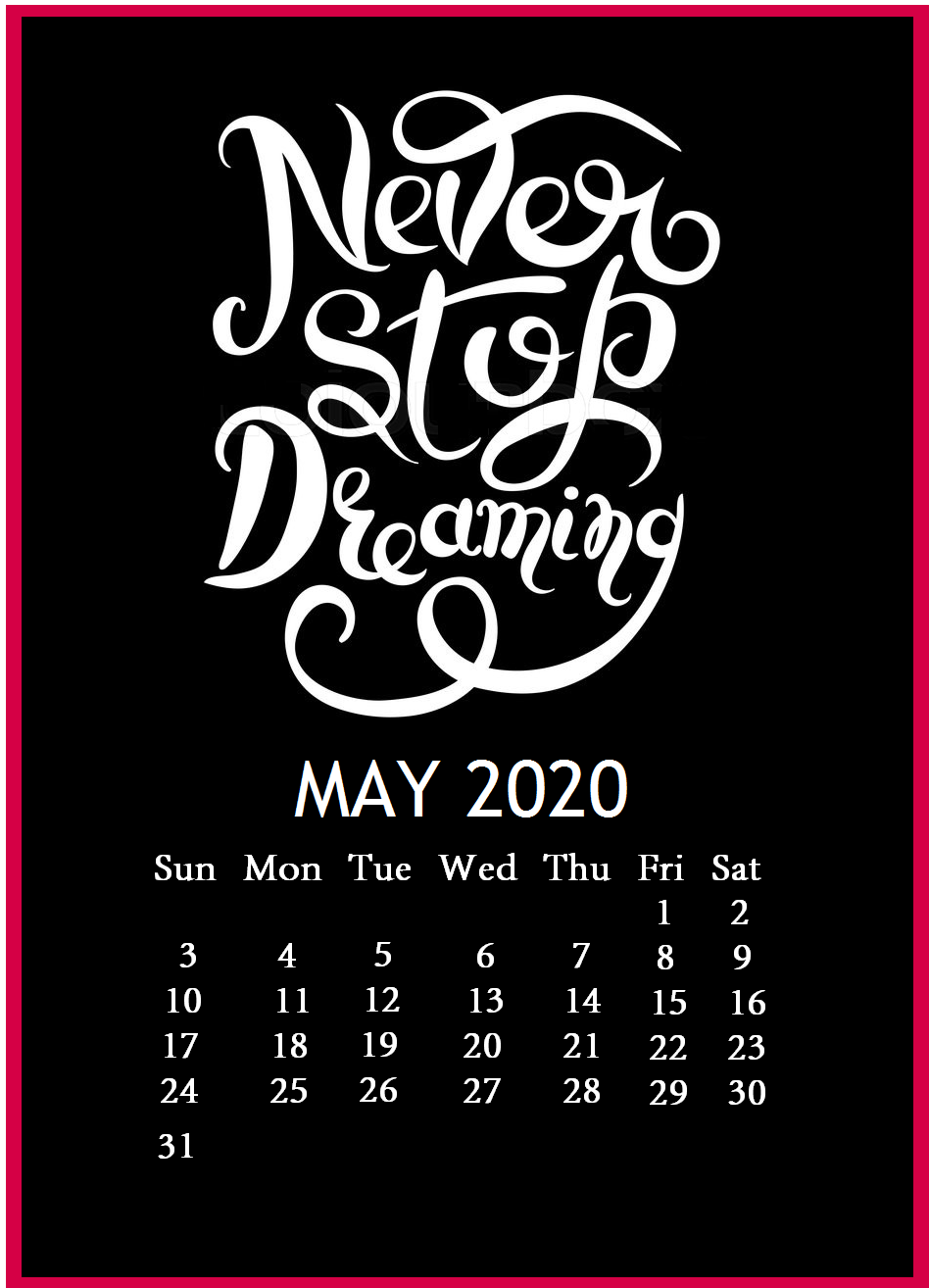 May 2020 Famous Quotes Calendar