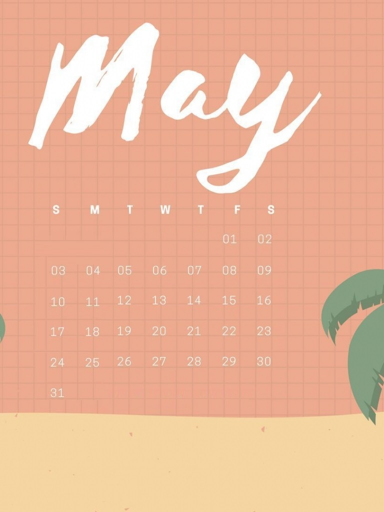iPhone May 2020 Calendar